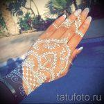 мехенди на руке белой хной - фото временной тату хной 3251 tatufoto.ru