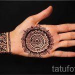 мехенди на руке браслет - фото временной тату хной 10263 tatufoto.ru
