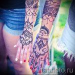 мехенди на руке в виде браслета - фото временной тату хной 4272 tatufoto.ru