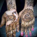 мехенди на руке глаз - фото временной тату хной 3283 tatufoto.ru