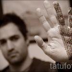 мехенди на руке для мужчин - фото временной тату хной 2301 tatufoto.ru