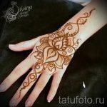 мехенди на руке лотос - фото временной тату хной 1363 tatufoto.ru