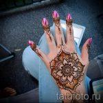 мехенди на руке мандала - фото временной тату хной 7383 tatufoto.ru