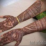 мехенди на руке на свадьбу - фото временной тату хной 1387 tatufoto.ru