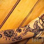 мехенди на руке птицы - фото временной тату хной 2404 tatufoto.ru