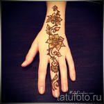 мехенди на руке рисунок - фото временной тату хной 2414 tatufoto.ru