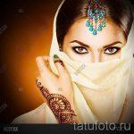 мехенди на руке хной - фото временной тату хной 1437 tatufoto.ru