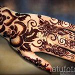 мехенди на руке цветок - фото временной тату хной 6446 tatufoto.ru