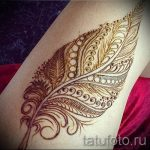 мехенди перо на ноге - варианты временной тату хной от 05082016 3239 tatufoto.ru