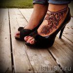 мехенди перо на ноге - варианты временной тату хной от 05082016 6242 tatufoto.ru