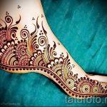 мехенди перо на ноге - варианты временной тату хной от 05082016 8244 tatufoto.ru
