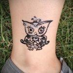 мехенди сова на ноге - варианты временной тату хной от 05082016 3247 tatufoto.ru