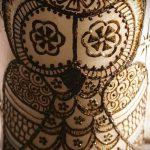 мехенди сова на ноге - варианты временной тату хной от 05082016 4248 tatufoto.ru