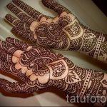 рисунки мехенди на руке - фото временной тату хной 10470 tatufoto.ru