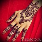 рисунки мехенди на руке - фото временной тату хной 2462 tatufoto.ru
