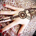 рисунки мехенди на руке - фото временной тату хной 8468 tatufoto.ru