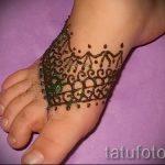 рисунки хной на ноге легкие - варианты временной тату хной от 05082016 1250 tatufoto.ru
