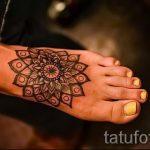 рисунки хной на ноге легкие - варианты временной тату хной от 05082016 3252 tatufoto.ru