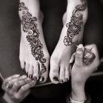 рисунки хной на ноге легкие - варианты временной тату хной от 05082016 6255 tatufoto.ru