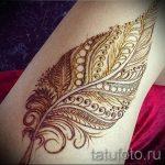 рисунки хной на ноге фото - варианты временной тату хной от 05082016 3258 tatufoto.ru