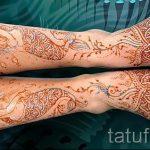 рисунки хной на ноге фото - варианты временной тату хной от 05082016 5260 tatufoto.ru
