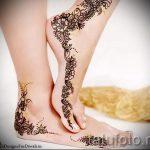 рисунки хной на ноге фото - варианты временной тату хной от 05082016 7262 tatufoto.ru