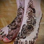рисунок хной на ноге фото узоры - варианты временной тату хной от 05082016 2265 tatufoto.ru