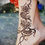 рисунок хной на ноге фото узоры - варианты временной тату хной от 05082016 4267 tatufoto.ru