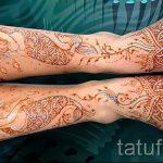 рисунок хной на ноге фото узоры - варианты временной тату хной от 05082016 5268 tatufoto.ru