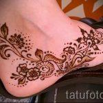 роспись хной на ноге - варианты временной тату хной от 05082016 4276 tatufoto.ru