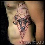 созвездие овна тату - фото готовой татуировки от 02082016 3063 tatufoto.ru