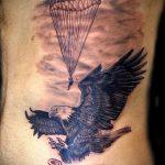 тату вдв купол парашюта - фото пример татуировки 16172 tatufoto.ru