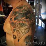 тату вдв купол парашюта - фото пример татуировки 2158 tatufoto.ru