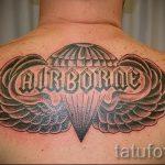 тату вдв купол парашюта - фото пример татуировки 8164 tatufoto.ru