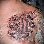 тату вдв на груди - фото пример татуировки 2181 tatufoto.ru