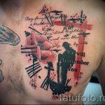 тату вдв на груди - фото пример татуировки 5184 tatufoto.ru