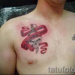 тату вдв на груди - фото пример татуировки 6185 tatufoto.ru