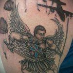 тату вдв на плече - фото пример татуировки 4196 tatufoto.ru