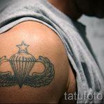 тату вдв на плече - фото пример татуировки 5197 tatufoto.ru