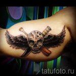 тату вдв на руке - фото пример татуировки 15213 tatufoto.ru