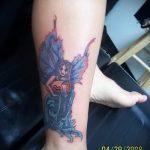 тату водолей на ноге - фото - пример готовой татуировки от 01082016 4129 tatufoto.ru