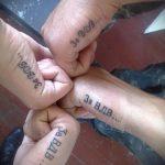 тату за вдв на ребре ладони - фото пример татуировки 2283 tatufoto.ru