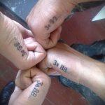 тату за вдв на ребре ладони - фото пример татуировки 6287 tatufoto.ru