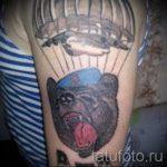 тату медведь вдв - фото пример татуировки 1298 tatufoto.ru