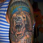 тату медведь вдв - фото пример татуировки 2299 tatufoto.ru