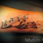 тату ноты на запястье - фото готовой татуировки от 02082016 12126 tatufoto.ru