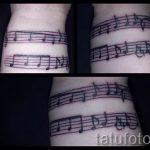 тату ноты на запястье - фото готовой татуировки от 02082016 29143 tatufoto.ru