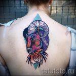 тату овен акварель - фото готовой татуировки от 02082016 2066 tatufoto.ru