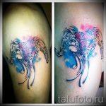 тату овен акварель - фото готовой татуировки от 02082016 3067 tatufoto.ru