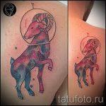 тату овен акварель - фото готовой татуировки от 02082016 5069 tatufoto.ru
